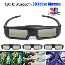 4pcs 3D Active Shutter Glasses USB Rechargeable For Projectors Sony Panasonic