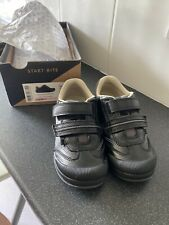 Start Rite Boys School Shoes 10,5 G New Tough Bug Black Leather