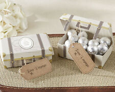 24 Vintage Suitcase Travel Theme Wedding Bridal Shower Favor Candy Boxes Q35395