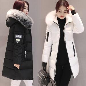 Womens Winter Hooded Parka Jackets Outerwear Ladies Winter Chunky Puffer Coats U