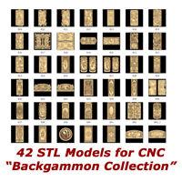 """42 3d STL Models - """"Backgammon"""" for CNC relief artcam 3d printer aspire"""