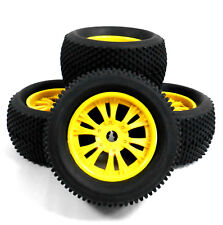810019 1/8 Scale Off Road RC Monster Truck Wheels and Tyres x 4 Yellow V2