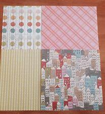 Scrapbook/Cardmaking Paper Pack - 8 Sheets - 4 Designs - 15x15cm - Pack268