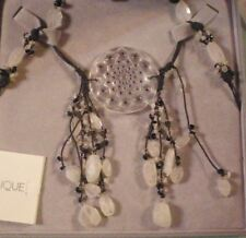 Lalique Cactus Pendant Crystal Necklace New Box Silver Jewelry Dreamcatcher MIB