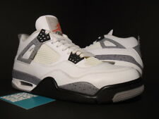 Nike Air Jordan IV 4 Retro WHITE CEMENT GREY BLACK FIRE RED OG 308497-103 OG 8.5