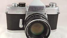 Vintage Minolta SR-1 SLR Film Camera w/ Minolta Rokkor-PF 55mm f2 Lens
