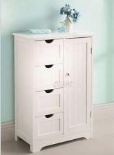 Un nuovissimo in legno bianco FREE STANDING 1 ANTE 4 CASSETTI BAGNO Arredi Archivio
