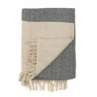 Bloomingville Two Tone Throw Cotton - Nature/Brown - Scandinavian Style