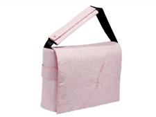 Pink funky designer Messenger bag with laptop pocket fit imac or chromebook bnwt
