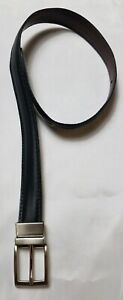 Boy XS Black Silver Buckle Leather Everyday Casual Flat Smooth Belt