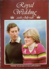 PRINCESS DIANA ROYAL WEDDING 1981 LONDON WHERE TO GO SOUVENIR BOOK