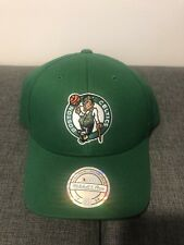 Boston Celtics Mitchell & Ness New Black Dad Hat Cap