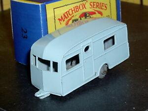 Matchbox Lesney Berkeley Cavalier Caravan 23 b1 blue MW D-C SC5 NM crafted box