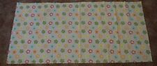 Fabric remnant Pink background with daisies . Free P&P
