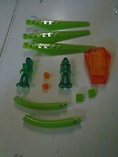 Lego Lot of 15 Neon Transparent Clear Pieces Green Aliens