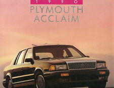 1990 Plymouth Acclaim Brochure/Catalog: Lx,Le