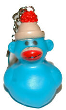 CUTE RUBBER SOCK MONKEY DUCK KEY CHAIN (KC025-Blue)