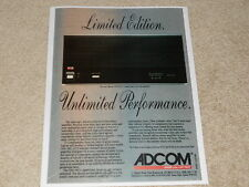 Adcom GFA-585 Limited Edition Advertisement, 1 page, 1991, Article, Info