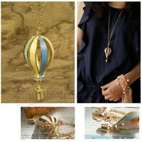 Stylish Fly Air Dream Colorful Hot Fire Balloon Pendant Sweater Chian Necklace