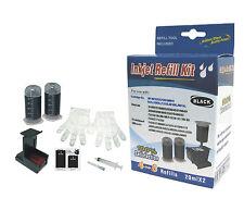 Cartridge refill kit for HP 60/61/62/63/901/121/818/121XL Black ink cartridges
