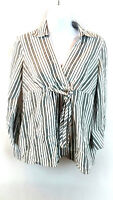 Motherhood Maternity Women's Blouse Top V-Neck 3/4 Sleeve Striped Size Small