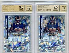 Lot of (2) 2014 Tre Mason Playoff Contenders Cracked Ice Auto RC BGS 9.5 #/25