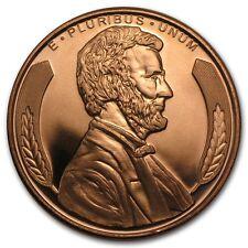 999 Rame Moneta Medaglia di Lincoln Busto STATI UNITI Nuovo Ottime Condizioni