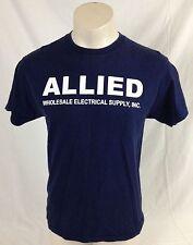 Allied Wholesale Electrical Supply Inc. Navy Blue T-Shirt 100% Cotton Men's M