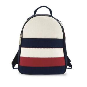 Tommy Hilfiger Vivian Backpack Colorblock Cotton Canvas Patriotic