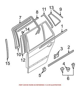 For BMW Genuine Door Window Frame Rear Right 51348190650