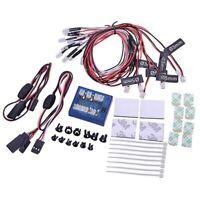 8 LED Auto LED Lampen Licht Strobe Lichts Kit für 1/10 1/8 HSP TAMIYA CC01 X3E1