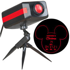 NEW Disney Mickey Countdown To Christmas Red LED Outdoor Stake Light Projector