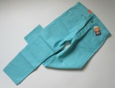 NWT Levi's 501 in Curacao Blue Shrink To Fit Raw Unwashed Denim Jeans 34 x 30