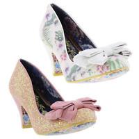 Irregular Choice Ban Joe Womens High Heels Party Shoes White Pink Sizes UK 4-7.5
