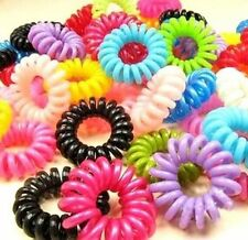 Fd5176 □ Sweet Candy Elastic Rubbers Hair Ties Band Rope Ponytail Holder 10pcs
