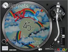 "Ltd Ed SALSOUL 7"" / 12"" DJ SLIPMAT turntable platter mat Philly Soul Disco Funk"