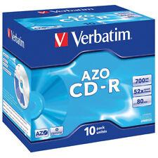 VERBATIM CD-R, 700MB/80Min., 10er Pack, JewelCase, 52fach