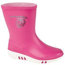 Kids Girls Pink Dunlop Mini Wellington Boots Rainy Snow Rubber Wellies