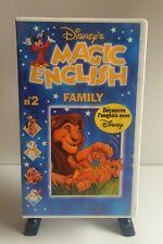 MAGIC ENGLISH FAMILY N°2 VHS Disney's 1996 Cassette Video VHS SECAM France
