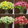 1 Bouquet 21 Head Artifical Plastic Rose Wedding Party Home Decor Silk Flower