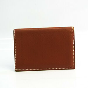 Hermes Leather Card Case Gold BF534837