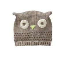 0333f96200f GAP Baby Boys   Girls Size 6-12 Months Tan   Ivory Owl Sweater Animal