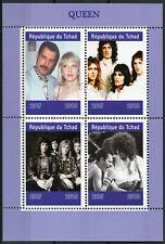 Chad 2019 CTO Queen Freddie Mercury 4v M/S Music Celebrities Stamps