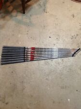 ONE TIME PULL USED KBS TOUR REGULAR STEEL IRON SHAFTS 3-PW 341/4