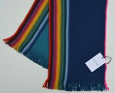 PAUL SMITH DR WHO striped scarf wool Artist Stripe Signature DOCTOR rainbow