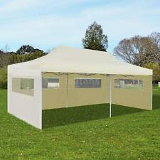 Patio 10'x20' Cream Outdoor Foldable Pop Up Garden Canopy Tent Gazebo HOT K6N6