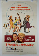 BACHELOR IN PARADISE - 1961 ORIGINAL MOVIE POSTER - BOB HOPE - LANA TURNER