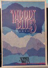 "THE MOODY BLUES~ORIGINAL U.S. 1984 ""SUMMER NIGHTS USA 84"" CONCERT PROGRAME"