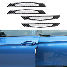 4x Black Car Door Fender Sticker Reflective Decal Carbon Fiber Fast Shipping Hot