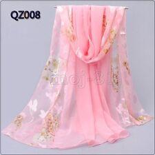 "New Fashion Women's Long Soft 100% Silk ""Floral"" Scarf Wrap Shawl Stole Scarves"